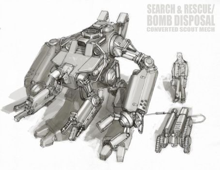 Search and Rescue Mech by MikeDoscher