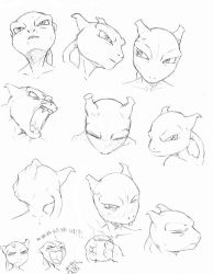 mewtwo heads by hibbary
