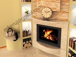 Interior Fireplace 01 by mkeruj