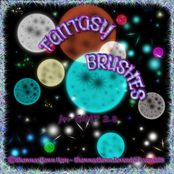 Fantasy Brushes for GIMP by ShawneeDawn