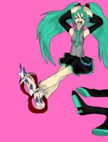 Miku's 8th Anniversary tickles by kingofthedededes73
