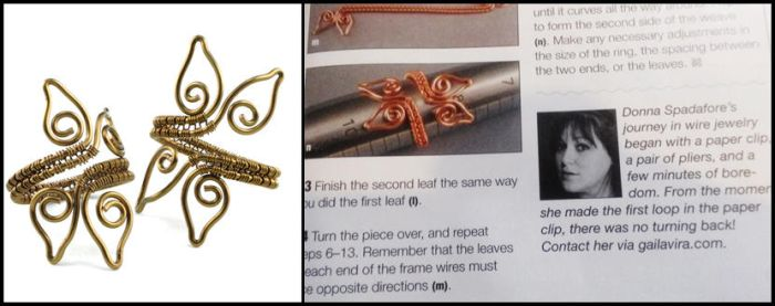 Adjustable Leaf Ring in WireWork Magazine Fall2014 by Gailavira
