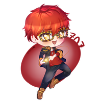 Mystic Messenger - 707 Chibi by ShintaWorld