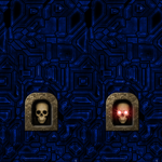 Blue Wall with Skull Switch Remake by Hoover1979