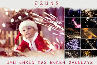 Christmas sparklers Lights, Bokeh photo overlays t by 2SUNS1