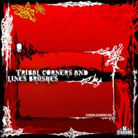 Tribal Corners-Line Brushes by Studiom6