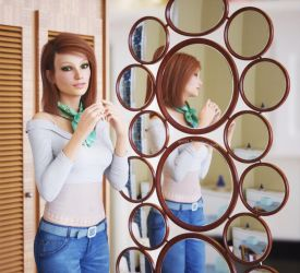 Round Mirrors Set by pnn32