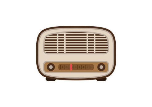 Retro Radio Flat Style Vector by superawesomevectors