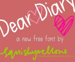 Dear Diary Font by squishymellows