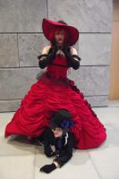 Hey, little nephew - Madame Red and Ciel by FuriaeTheGoddess