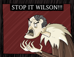 Don't Starve Maxwell Wallpaper (quicky) by JoTheWeirdo