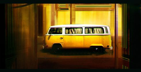 the yellow van by gamka
