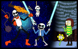 Papyrus and Sans in Rick and Morty Style by JamesMcKadeComics