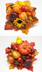 Two autumn fascinators by Sundry-Art