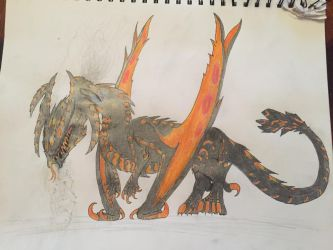 Volcanic Dragon by TheDracoDrawer123