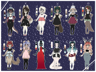 + Starsign Adopts - Open 5/12 - PRICE LOWERED + by RoyalBones
