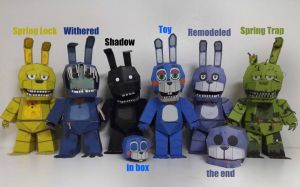 five nights at freddy's bonnie TimeLine Papercraft by Adogopaper