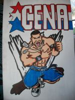 John Cena Painting by CaptainMarvelous