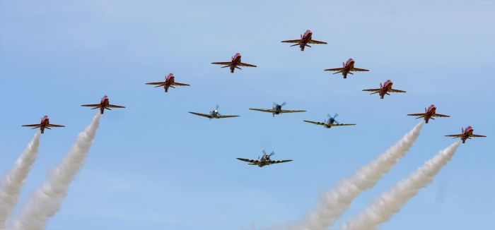 The Red Arrows and 'Eagle Squadron' by Daniel-Wales-Images