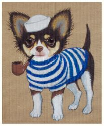 Sailor Chihuahua by papertigress