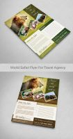 World Safari Flyer For Travel agency by Saptarang