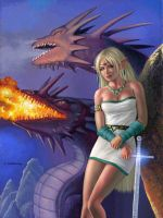 Dragons of Lodoss and Deedlit by AlanGutierrezArt