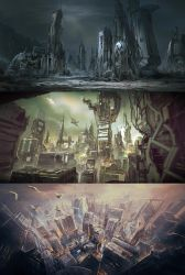 SciFi Cities by VincentiusMatthew