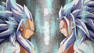 Goku and Vegeta, Super Saiyan 5 by Mitchell1406