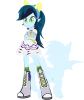 Zephyr Equestria Girl with Pony Silhouette by Owl-Parchment