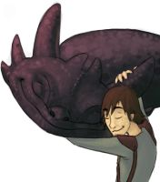 Hiccup and Toothless by Xailai