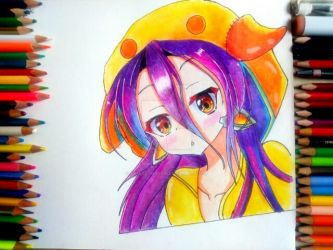 Drawing-schwi dola/no game no life by arbazadmane29