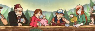 Gravity Falls Tea Party by paigehwarren