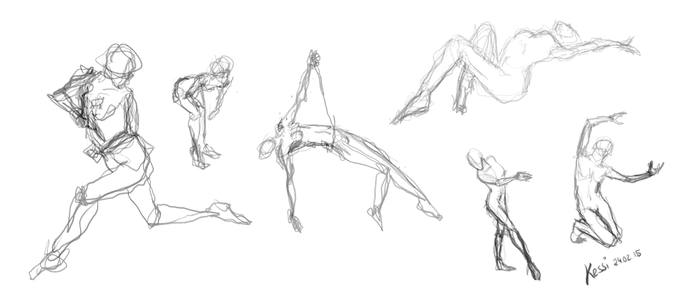 Pose-practice-2-lefthanded by kessir