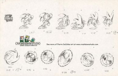 Sonic the Hedgehog - Spin Cycle Animation Sheet by PierreDeCelles