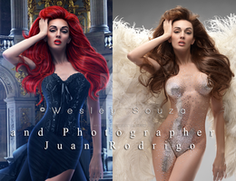 La Dama - before and after by Wesley-Souza