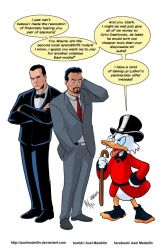 TLIID 272. Scrooge McDuck helping Tony and Bruce by AxelMedellin