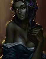 Skyrim lady-Orc by Risel