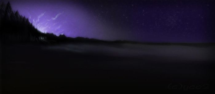 starry landscape by yellochevy02