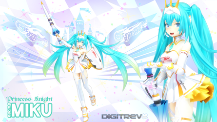 Princess Knight Racing Miku 2015 MMD by Digitrevx