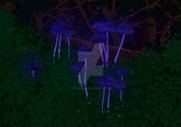 Galactic Shrooms by ArtlessDesigns