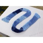 Asymetrical Meshy Blue Scarf by Kyle-Lefort