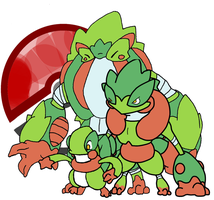 fakemon grass starters by Pixel--Pete