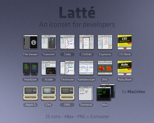 Latte - Iconset for Developers by macintex