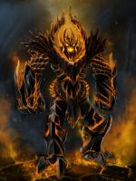 fire colossus by AlexYunak