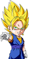 Vegetto ssj chibi by maffo1989