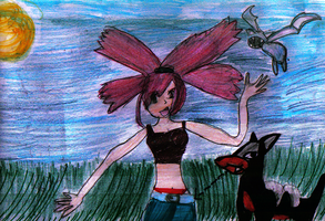 Flannery, Zubat and Houndour by CGholy