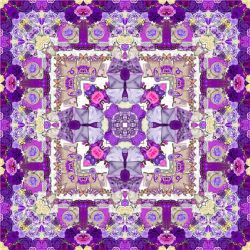 Kaleidoscope - Purple Roses by Peaches1950