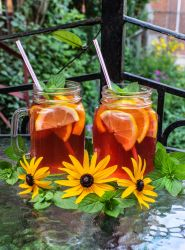 Cold Brewed Mango and Passion Fruit Tea by Kitteh-Pawz