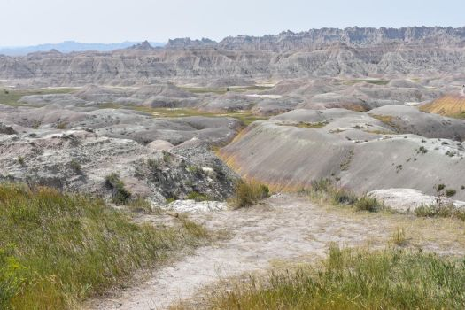 Stock - Badlands Yellow Mounds 1 by WildWillowHEE