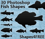 30 Photoshop Fish Shapes by Shapes4FREE